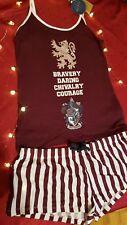 💖Harry Potter Gryffindor Cami top Shorts Pyjamas Size 14/16 🎁💖