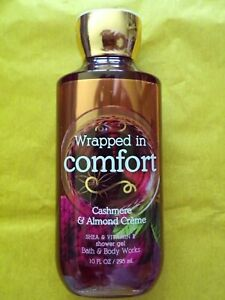 NEW Bath & Body Works WRAPPED IN COMFORT Cashmere Almond Creme 10 oz shower gel