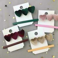 2X Fashion Women Love Heart Hair Clip Barrette Stick Bobby New Hairpin B8V8