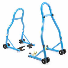 Paddock Stand Motorcycle Front and Rear Wheel Pair Track Pits Sportbike