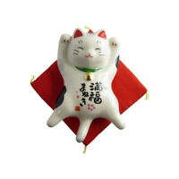 Gatto Giapponese 115mm gli Usi Marca Maneki Neko Bobtail Porcellana Made IN