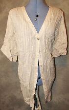 3/4 Sleeve V Neck Striped Cotton Blend Women's Tops & Shirts