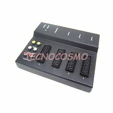 CENTRALINA SCART 21 PIN COMMUTATORE RCA SWITCH MULTIPRESA COLLEGAMENTO