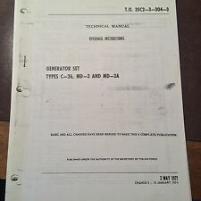 C-26, Beech, Consolidated Desisl MD-3 & Fermont MD-3A Generator Overhaul Manual
