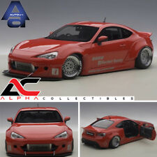 AUTOART 78757 1:18 TOYOTA 86 ROCKET BUNNY RED/SILVER RIMS