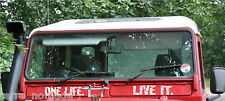 ONE LIFE LIVE IT DEFENDER VENT STICKERS, 4X4 STICKERS  LAND ROVER CAMEL TROPHY