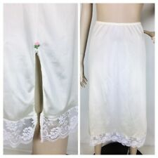 Vintage Chantilly Maidenform Ilgwu Lace Trim Side Slits Slip Size Small
