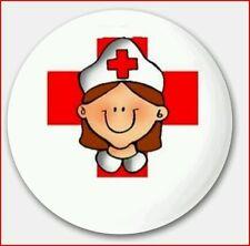 Chapas Pin Enfermera Doctora Ansteck Button Pin  Bouton épinglette Lapel Pi