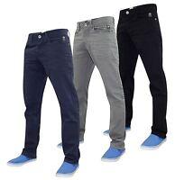 Denim Mens Designer Straight Fit Regular Jeans Pants Trousers All Waist Sizes