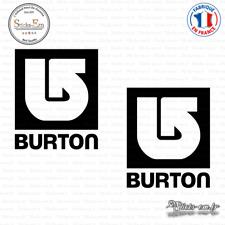2 Stickers Burton Snowboards Logo Decal Aufkleber Pegatinas BUR04