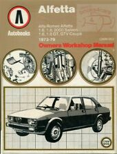 ALFA ROMEO SHOP MANUAL SERVICE REPAIR BOOK ALFETTA GTV AUTOBOOKS SPRINT VELOCE