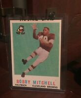 1959 Topps Football Card #140 Bobby Mitchell-Cleveland Browns-Rookie Card