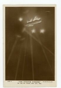PC WW1 Zeppelin Raid on North Coast by Stonefield West Hartlepool Durham 1916