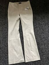 Gap Size4R(uk)/1R(us) Aubrey Cream/beige Trousers Regular Fit And Flare Size 6/8