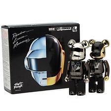Medicom Bandai Daft Punk Chogokin Alloyed 200% Bearbrick Be@rbrick Figure 2P Set