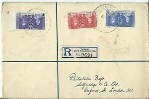 BRITISH SOLOMON ISLANDS, FIRST DAY COVER FOR CORONATION 1937, REGISTERED