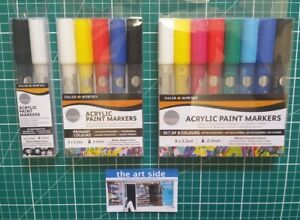 Daler Rowney Simply Acrylic Paint Marker Sets of 2, 5 or 8 Colour Pens