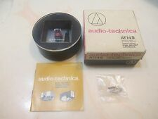 AUDIO TECHNICA AT14S CART AND GENUINE ATS-14 SHIBATA CD4 QUAD STYLUS IN CASE