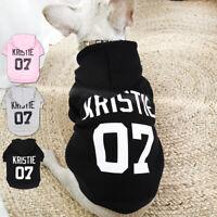 Individuelle Personalisierte Hund Welpe Haustier Hoodie Kleidung Name Text/Logo