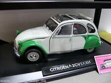 1/18 Norev Citroen 2CV Dolly 1985 weiss/grün mit Verdeck