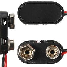 5 x PP3 mn1604 9 Voltios Plástico Duro la batería clip de Conector Snap Fit Plomo De Alambre