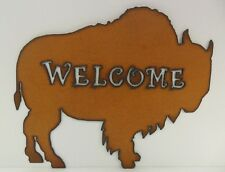 Metal Buffalo Welcome Sign - Made in USA!!!!