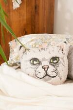 Urban Outfitters Sherpa Cat Pillow UO Home Kitty Throw