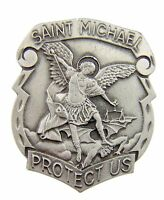 Archangel St Michael Police Badge Travel Protection Auto Visor Clip, 1 7/8 Inch