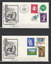 Nations Unies Genève 2 FDC tampon à date 1969 /B5N-Ug2
