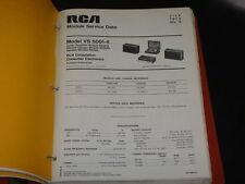 1972 RCA Radio Phonograph and Tape Drive 68 Service Tips w/Schematics