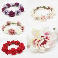 Boho Floral Flower Party Wedding Crown Hair Wreaths Hair Band Garl Headband V9Z0