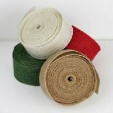 """2"""" Burlap Ribbon 10 Yard Roll - Available in 4 Colors"""