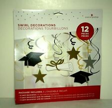 Graduation Hanging Swirl Decorations New Grad Party Supplies Hats Diploma Stars