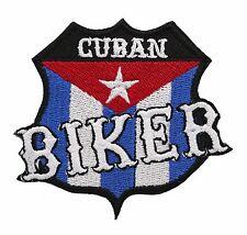 CUBAN FLAG BIKER PATCH
