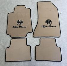 Autoteppich Fußmatten für Alfa Romeo Giulia 952 Creme schwarz Velours 4tlg. Neu