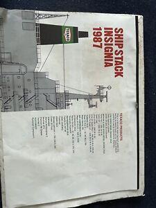 Ship Stack Insignia Calendar 1987