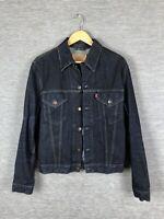 Levis Denim Jeans Jacket Size L Large Dark Blue Wash 70500 04