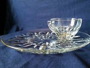Princess House Regency Snack Plate and Cup Set For 2