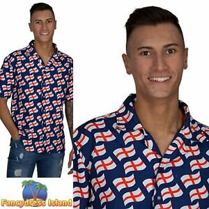 Wicked England St George Shirt Mens Adults Fancy Dress Costume