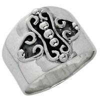925 ECHT SILBER *** Kreuz Ring , Gr. 50 (16)