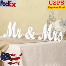 White Mr & Mrs Sign Mr and Mrs Letters Wooden Table Sign Wedding Decoration New