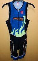 xxxx Castelli Cycling Bib Pro Sports Club Triathlon Team Speedy Men L Padded Zip