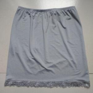 Women Satin Half Underskirt Petticoat Under Slip Dress Mini Skirt Safety Skirt