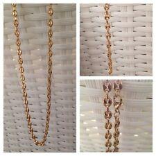 colliet et bracelet graine de café colleur doré acier styler