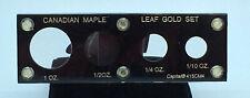 Canadian Maple Leaf Gold Set Holder Black