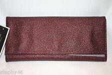 NWT! NEW! JUICY COUTURE Cabernet Stingray Wild Ones JADE Clutch Handbag $198