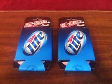 Miller Lite Beer Can Bottle Cooler Koozie Coozie ~ NEW & F/Shipn. Set of Two (2)