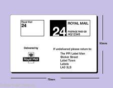 10,000 Printed Royal Mail PPI 24 CRL on OBA  labels ON ROLL VAT invoice supplied
