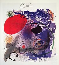 JOAN MIRO HAND SIGNED SIGNATURE * BEATING II * LITHOGRAPH W/ C.O.A.