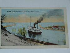 Steamer Alabama ship leaving harbor, Grand Haven, Michigan